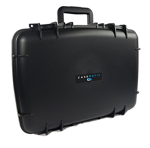 CASEMATIX ArmorXL Travel Carrying Case (22'') for DJ Controller or Mixer and Accessories - Fits Gemini SLATE 2-Channel Serato Dj Intro Controller / CDJ-700 / CDJ-650 / CDJ-300 by CASEMATIX