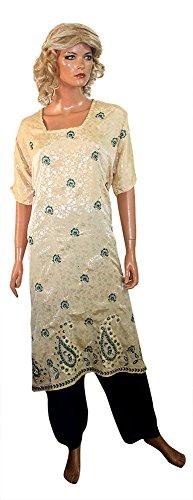 (Apparelsonline Green Salwar kameez set plus size 56 (56))
