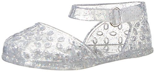 The Children's Place Girls' Nbg Jelly Ballet Slipper, Silver, 6-12MONTHS Medium US Big Kid