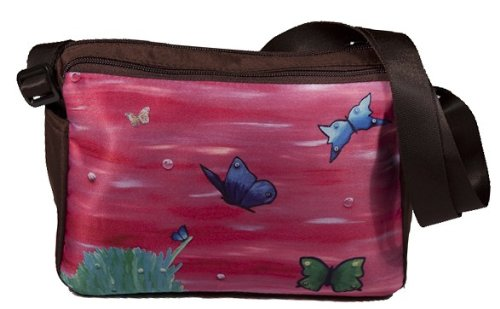 From My Original Painting Learning to Fly Butterfly Small Messenger Bag