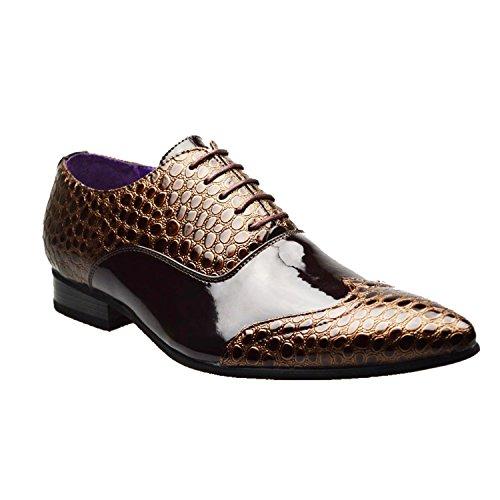 informale stile o 6 11 fibbia uomo 10 da 7 numero Scarpe 9 con marrone formale di 3 Brown 8 inglese color Sqvx01