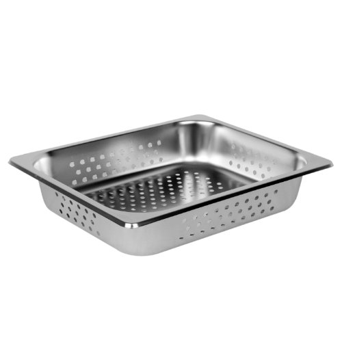 Excellante Half Size 2-Inch Deep Perforated 24 Gauge Steam Pans (Deep Pan Steam)
