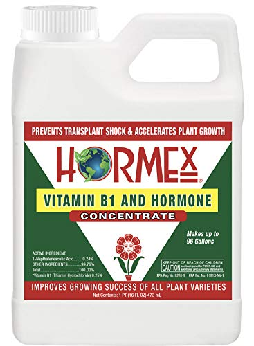 Hormex Vitamin B1 Rooting Hormone Concentrate | Prevents Transplant Shock | Accelerates Growth | Stimulates Roots | for All Plant Varieties & Grow Mediums Including Hydroponics