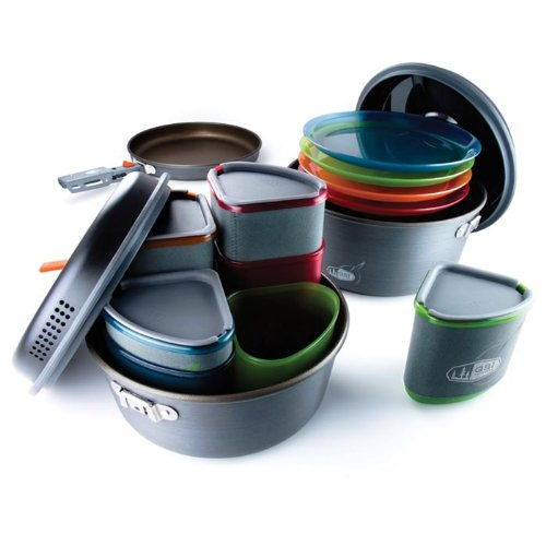 Price comparison product image GSI Outdoors - Pinnacle Camper, Nesting Cook Set, Superior Backcountry Cookware Since 1985