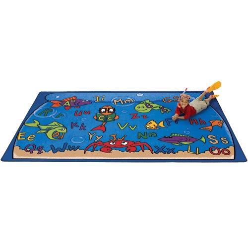 Carpets for Kids 8901 Literacy Alphabet Aquarium Kids Rug Size x x, 4'5'' x 5'10'', Blue by Carpets for Kids