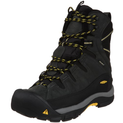 KEEN Men's Summit County Waterproof Winter Boot,Dark Shadow/Yellow,11.5 M US