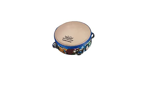 7 inch Children Kids Wooden Percussion Tambourine Hand Drum Early Developing