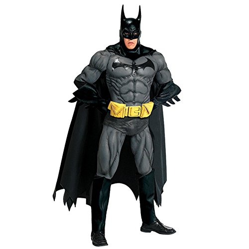 Best Superhero Couple Costumes (Rubie's Costume Co Men's DC Comics Collector Batman Costume, Black, One Size)