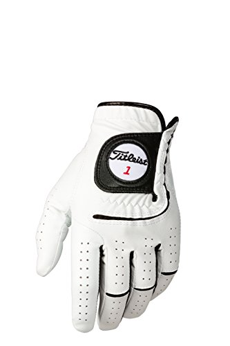 - Titleist Players-Flex Mens Cad LH Pearl, White(Medium - Large, Worn on Left Hand)