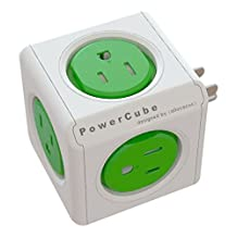 Powercube Original, 5 Outlet Wall Adapter,  Power Strip with 5 Outlets & Surge Protection, 4120GN/USORPC