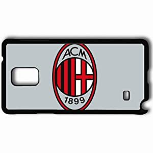 Personalized Samsung Note 4 Cell phone Case/Cover Skin AC Milan 130 Sports Black