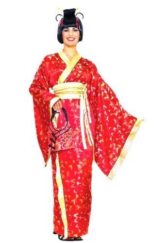 Geisha Costume Sash (Forum Novelties Madame Butterfly Geisha Costume, Red, Standard)