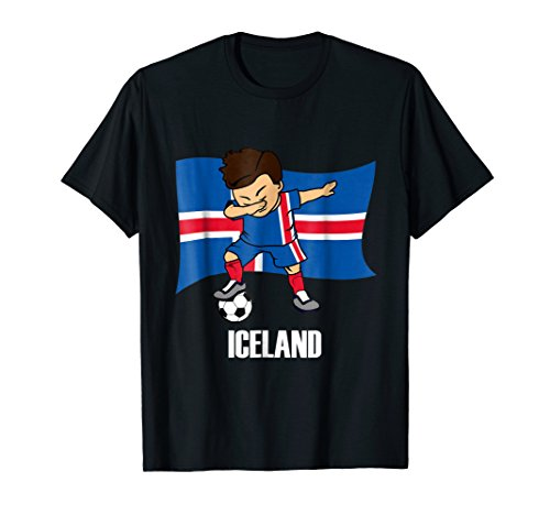 Dabbing Soccer Boy Iceland Soccer Jersey (Iceland Costume For Kids)