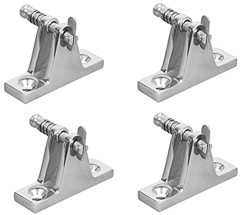 Marine Part Depot Four Stainless Steel Bimini Top Deck Hinge with Pin