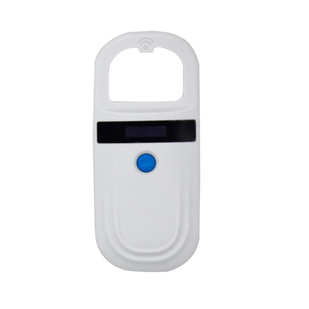 lzndeal Pet Microchip Scanner,GPS Tracker,Portable Animal Microchip,Pet Microchip Scanner Animal RFID Tag Reader Dog Pig Ear Reader 134.2KHZ