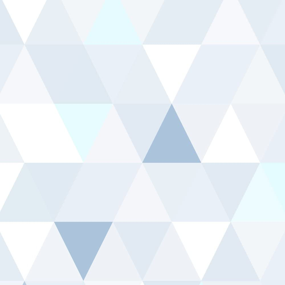 murando Papier Peint Adhesif 10m Mural 3D Decoration Feuille Autocollante Stickers XXL pour Meubles Revetement Mural Tableaux Muraux Tapisserie Photo Trompe loeil triangles beige blanc f-B-0177-j-b