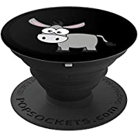 Girls Boys Donkey Mule Foal Cartoon Black & Design - PopSockets Grip and Stand for Phones and Tablets