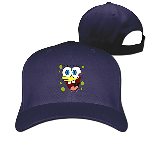 Gameser Fashion Unisex-Adult SpongeBob Animated Television Series SquarePants Hip Hop Cap Hats Navy