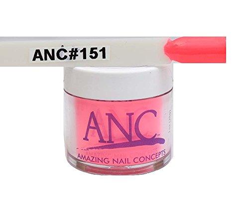 ANC Dipping Powder 1 oz #151 Neon Pink - Orange Neon Pink And