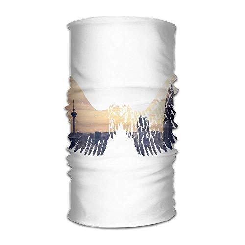 City Wing Watercolor Unisex Fashion Quick-Drying Microfiber Headdress Outdoor Magic Scarf Neck Neck Scarf Hooded Scarf Super Soft Handle ()