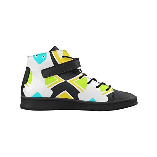 D-story Round Toe High Top Zapatos Abstract Animals Mujeres Sneakers