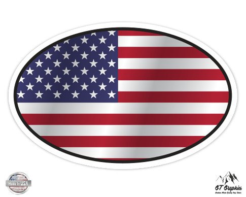 USA Flag Oval - 5