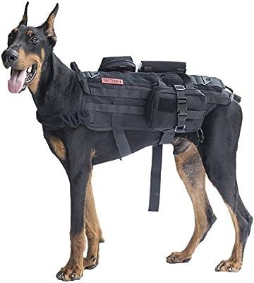 Arnés de entrenamiento canino MOLLE de OneTigris Arnés para perro ...