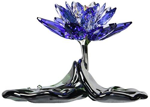 (Swarovski Waterlily Figurines, Blue Violet)