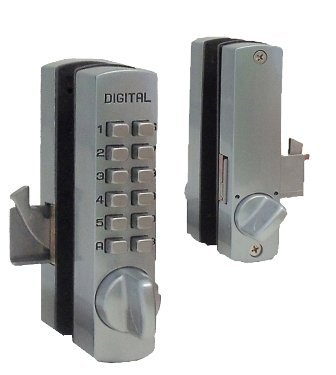 Mechanical Keyless Surface Mount Hook Bolt Sliding Door Lock Finish: Oil Rubbed Bronze by Lockey USA