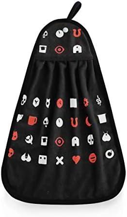 愛、死、ロボット ループ付き タオル ハンカチ ハンドタオル グクロスディッシュ ウォッシュタオル 手ぬぐい 綿 ガーゼ 手拭き 保育園 幼稚園 キッチン 掛ける 布巾