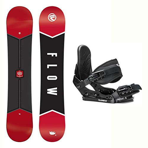 Flow Micron Verve Stealth Kids Snowboard and Binding Package 2018 - 130cm/1-5 - Kids Snowboard Binding