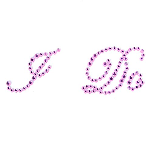 """I Do"" Wedding Bridal Rhinestone Sticker Motif - Pink"