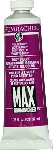 (Grumbacher Max Water Miscible Oil Paint, 37ml/1.25 oz, Thio Violet)