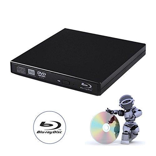 tengertang USB External blu-Ray Drive, Portable DVD Burner,BD-ROM,DVD/CD-RW/ROM Writer,Support xp/Win/ Linux System Related Desktop, Notebook, etc.(Black)
