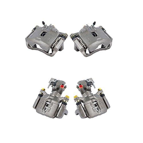 (CCK01192 FRONT + REAR [ 4 ] Premium Grade Semi-Loaded OE Caliper Assembly Set Kit)