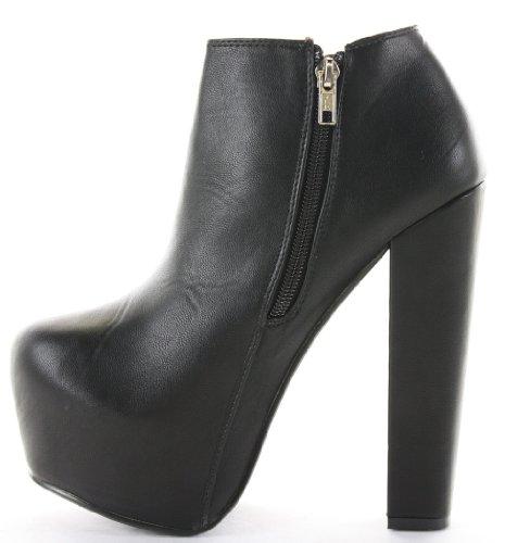 Damen Stöckelschuhe Größe 8 Boots Ankle Schuhe Block Chelsea Plattform Schwarz Hohe 3 Absätze rUfnqOdTr