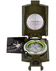 Levenhuk Army AC20 Tactical Liquid Compass with Sighting Slot, Clinometer, Map Scales, Bubble Level, Strap and Carrying Bag