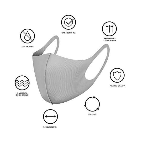 NUR-Mundschutz-aus-Stoff-wiederverwendbar-mit-Ohrschlaufen-atmungsaktiv-weich-waschbar-langlebig-fr-den-tglichen-ffentlichen-Gebrauch-Grau-3-Stck