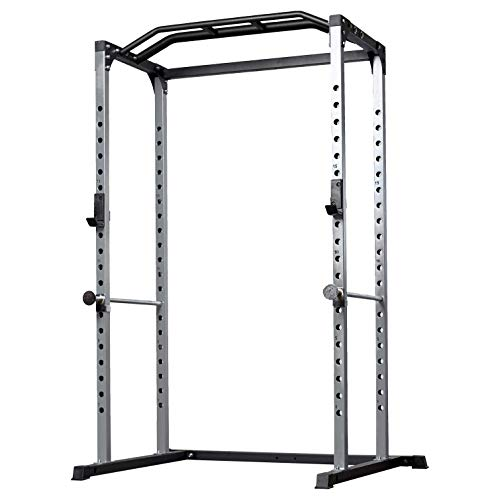 Rep PR-1100 Power Rack - 1,000 lbs Rated Lifting Cage for Weight Training (Silver Power Rack, No Bench) by Rep Fitness (Image #7)