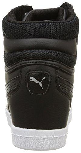 Puma Vikkyedge L - Zapatos de vestir para mujer Negro Negro/Plateado 40.5 Negro/Plateado