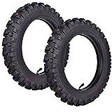 2.50x10'' Knobby Tyre 2.5-10 Front + Rear Tire w/ TR87 Inner Tube for Mini Dirt Bike XR50 CRF50 PW50 SDG107 KTM 50SX Morini Razor SX500