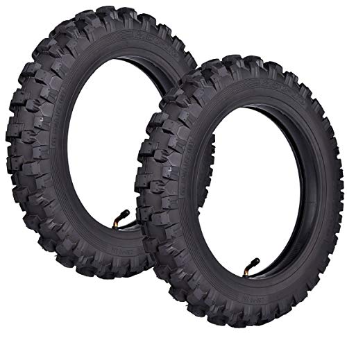 2.50x10'' Knobby Tyre 2.5-10 Front + Rear Tire w/ TR87 Inner Tube for Mini Dirt Bike XR50 CRF50 PW50 SDG107 KTM 50SX Morini Razor SX500 by Wingsmoto (Image #6)