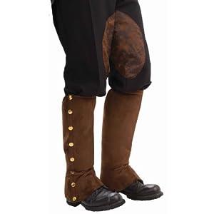 Forum Novelties Men's Adult Steampunk Suede Spats Costume Accessory