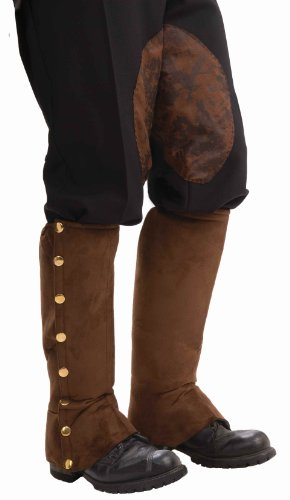 Forum Novelties Men's Adult Steampunk Suede Spats Costume Accessory, Brown, One Size -