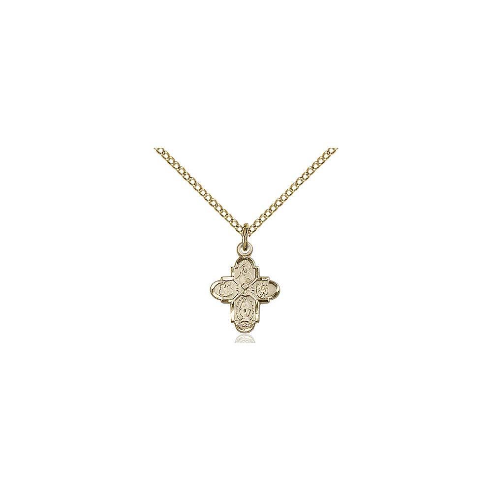 DiamondJewelryNY 14kt Gold Filled 4-Way//Chalice Pendant