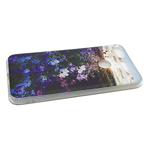 Funda Huawei Enjoy 7,EUDTH Suave TPU Gel Funda Case Delgado Silicona Fundas Carcasa Espalda para Huawei Enjoy 7 (5.0 Pulgadas) Algún día Flor Purpura