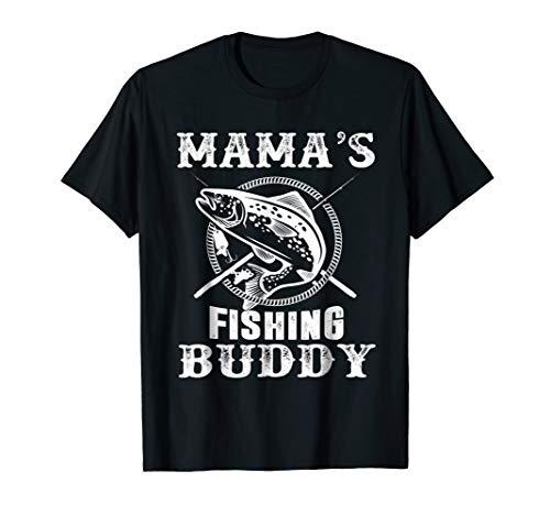 Mama's Fishing Buddy T-Shirt Young Fisherman Gift Shirt