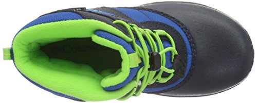 Columbia BY1322 - Botas bajas de invierno para niños Azul (Blue Magic, Green Mamba 426Blue Magic, Green Mamba 426)