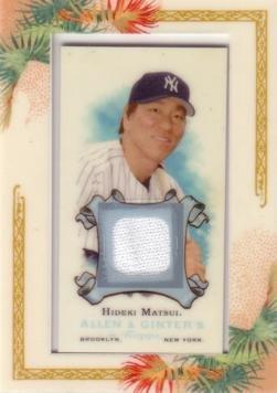 2006 Topps Allen & Ginter Relics #AGR-HM Hideki Matsui Game Worn Jersey Baseball Card - Hideki Matsui Game