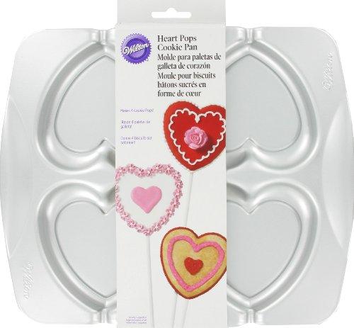 Wilton 2105-0272 Heart Pops Cookie Pan